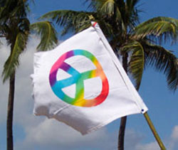 Peace Flag - Rainbow Peace Symbol Banner